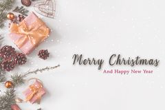 White christmas and special gift royalty free stock photography