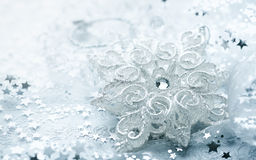 White Christmas Star Royalty Free Stock Photography