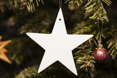 White Christmas star Stock Images