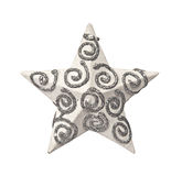 White christmas star isolated Stock Images