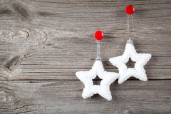 White christmas stars Royalty Free Stock Photos