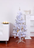 White Christmas tree Stock Image
