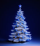 White christmas tree royalty free illustration