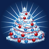 White christmas tree Stock Images