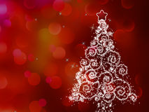 White christmas tree on abstract light. EPS 8 Stock Image