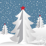 White Christmas Tree Background Royalty Free Stock Images