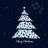 White Christmas tree background. Vector. Abstract white Christmas tree background. Vector illustration Royalty Free Stock Image