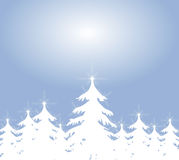 White Christmas Tree Backround Stock Image