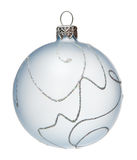 White Christmas tree ball, isolated Stock Image