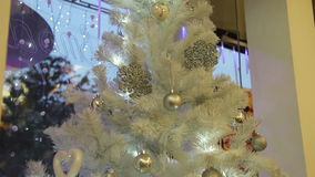 White Christmas tree stock footage