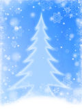 White christmas tree in blue Royalty Free Stock Photography