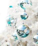 White Christmas-tree decorations Royalty Free Stock Photos