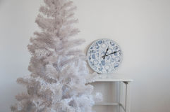 White christmas tree without decorations Royalty Free Stock Photos
