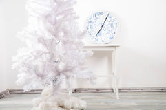 White christmas tree without decorations Stock Images