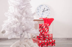 White christmas tree without decorations Stock Image