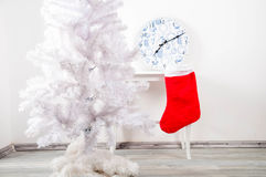 White christmas tree without decorations Stock Photos