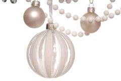 White Christmas-tree decorations. Christmas  post card Royalty Free Stock Photos