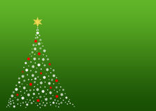 White christmas tree on green Royalty Free Stock Photos