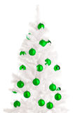 White Christmas tree Stock Photography