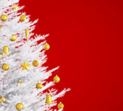 White christmas tree over red 3d rendering Royalty Free Stock Image