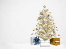 White christmas tree with presents Stock Images