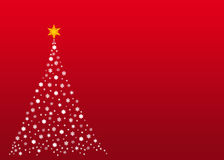 White christmas tree on red stock image