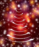 White christmas tree in red Stock Image