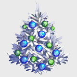 White Christmas tree with toys and garland Royalty Free Stock Images