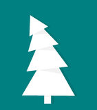 White Christmas tree Royalty Free Stock Image