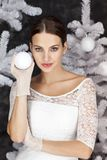 Cold white Christmastime royalty free stock images