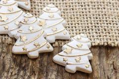 White christmas trees - decoration Stock Photos