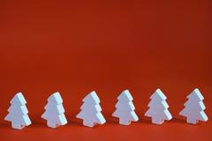 White christmas trees Royalty Free Stock Photo