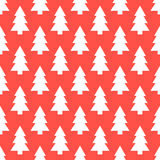 White Christmas trees pattern Royalty Free Stock Photo