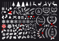 White Christmas, vector set. White Christmas, big set of graphic design elements, vector Royalty Free Stock Photo