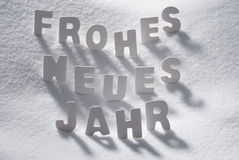 White Christmas Word Neues Jahr Means New Year On Snow Royalty Free Stock Photo
