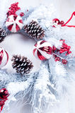 White christmas wreath Royalty Free Stock Images