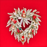 White Christmas wreath Royalty Free Stock Photo