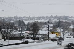 WHITE CHRISTMS DAY IN LEWISTON ,IDHO ,USA. LEWISTON/IDAHO/USA 25.December  2017.  White christmas day beacuse heavy snow fall and temperature is 27F fahrenheit Royalty Free Stock Photography