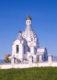 White Church. On a hill in a fair weather royalty free stock photo