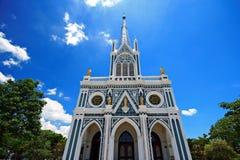 White church. Thailand Christ catholic Stock Photo