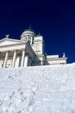 White church. White christian church in helsinki, senate square Stock Images