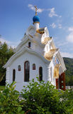 White church. Temple of Our Lady Soothe My Sorrows, Trinity-St George's nunnery, Sochi, Russia Royalty Free Stock Image