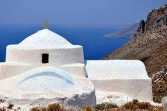 White church in Aegean Islands Royalty Free Stock Image