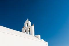 White church against the blue sky. Royalty Free Stock Photos