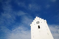 White church against sky Royalty Free Stock Images