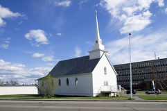 White Church Alaska Highway stock photography
