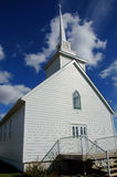 White Church Alaska Highway Stock Image