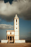 White church and amazing sky Stock Photography