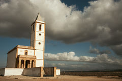White church and amazing sky Royalty Free Stock Photo