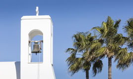 Free White Church And Palms, Agia Napa, Cyprus Stock Photo - 65373720